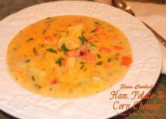 Melissa's Southern Style Kitchen: Slow Cooked Ham, Potato & Corn Chowder