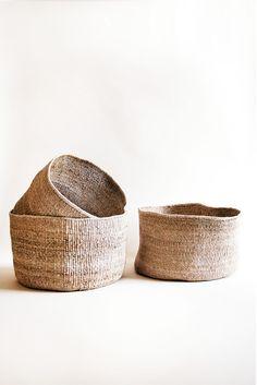 Indego Africa Banana Leaf Floor Basket | Young & Able