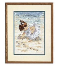 Janlynn Collecting Shells Cntd X-Stitch Kit: cross stitch: needle arts: Shop | Joann.com