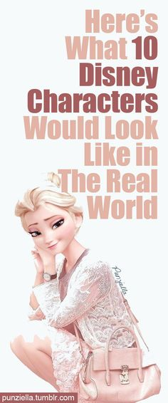 Love some of these! Shows how people in the real world look ! Everyone is a prince or a princess! disney characters #disney