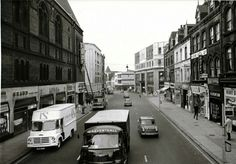 Leeds New Briggate Leeds City, My Town, Old Photos, Past, Street View, England, Old Pictures, Past Tense, Vintage Photos