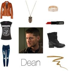 Dean Winchester Inspired Outfit AC/DC, Lead Zeppelin, or other band shirt
