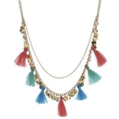 Necklaces & Pendants Statement Custome Color Tassels Necklace With Pendant for Women Cute Jewelry Accessories QC7055 #Affiliate