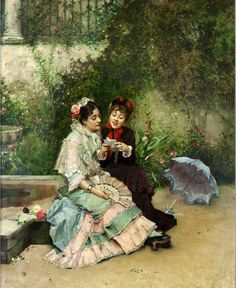 Two Spanish Women - Raimundo de Madrazo y Garreta (1841-1920)