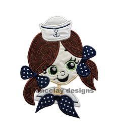 sailor girl head  http://www.etsy.com/shop/kmcclaydesigns
