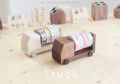 Masking Tape Truck by minkisloveonetsy on Etsy
