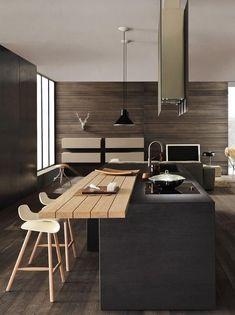 Kitchen designs this year. Are you looking for inspiration for your home kitchen design? Take a look at the kitchen design ideas here. There is a modern, rustic, fancy kitchen design, etc. Modern Kitchen Design, Interior Design Kitchen, Kitchen Contemporary, Contemporary Interior, Modern Design, Kitchen Ideas For Small Spaces Design, Contemporary Apartment, Urban Design, Küchen Design