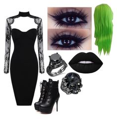 """Untitled #1275"" by meganlovesmarilynmanson ❤ liked on Polyvore featuring Alexander McQueen and Lime Crime"