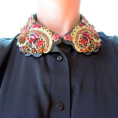 Awesome! EXAMPLE - collar necklace, peter pan collar. $120.00, via Etsy.