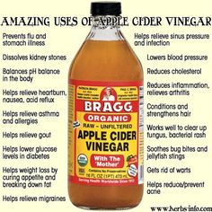 Apple cider vinegar is one magical ingredient! Taken internally it has all sorts of incredible health benefits, but it can also be used as a rinse for beautiful hair and applied to skin for a number of reasons. To discover all of the incredible ways you can use apple cider vinegar, visit Herbs-Info.com below… The …