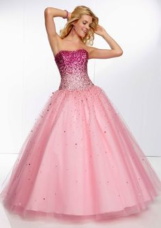 Details about Pink Crystal Ball Gown Quinceanera Dresses For 15 ...