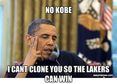NO KOBE I CANT CLONE YOU SO THE LAKERS CAN WIN | Easy Memes
