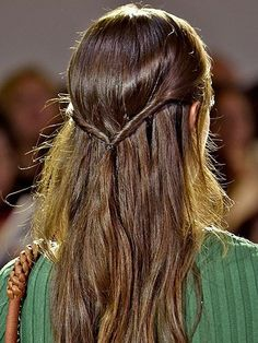 NYFW Beauty Trends Spring 2016 - Altuzarra twisted half-up hairstyle | allure.com