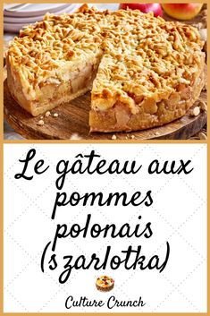Hui, Apple Pie, Cake, French Toast, Dessert Recipes, Food And Drink, Breakfast, Cakes, Special Recipes