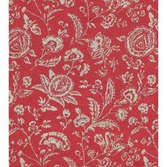 Cabbages & Roses French Toile Raspberry