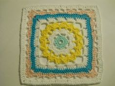 violet crochet square