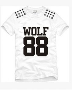 EXO WOLF88 short sleeve t shirts for boys plus size-