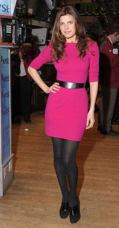 Actress Lake Bell poses after ringing the opening bell at the New York Stock Exchange on February 8, 2010 in New York City.