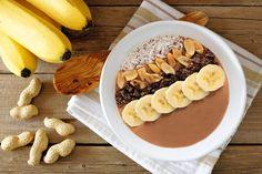 Chocolate Peanut Butter Smoothie Bowl Recipe | Kayla Itsines | Bloglovin'