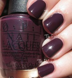 OPI: ☆ Sleigh Parking Only ☆ ... a dark plummy purple (Vampy) creme nail polish from the OPI Gwen Stefani Holiday Collection 2014