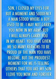 I Love You Son Quotes From Mom Hindi : For My Children!!! on Pinterest My Children, Dont Give Up and Your ...