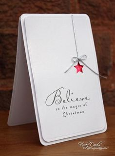 CAS Believe by Veritycards - Cards and Paper Crafts at Splitcoaststampers