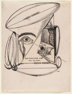 Johannes Theodor Baargeld (Alfred Emanuel Ferdinand Gruenwald). The Human Eye and a Fish, The Latter Petrified. 1920