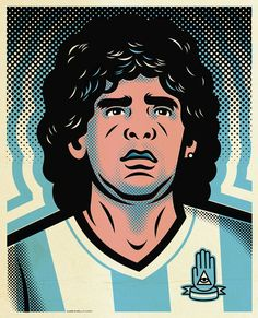 Saved by Sergey Punchev (scriptkiddy). Discover more of the best Illustrations, Maradona, and Alderete inspiration on Designspiration Creative Illustration, Portrait Illustration, Graphic Illustration, Graphic Art, Graphic Design, Retro Football, Football Art, Football Players, Comic Frame