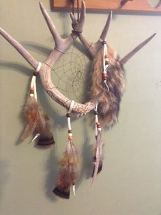 sold Deer Antler  Dream Catcher pheasant  feathers by CydsCreations, $65.00