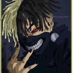 Anime Rapper, Rapper Art, Deidara Wallpaper, Wallpaper Naruto Shippuden, Dope Cartoon Art, Dope Cartoons, Arte Dope, Dope Art, Dope Wallpapers