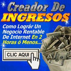Creador de Ingresos, oportunidad que vale la pena ver!
