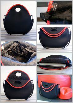 Maya bag with red. Urban Warrior Design by Samboya in action. 3D mesh bags design.