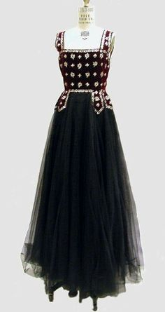 Lucien LeLong French evening gown 1938
