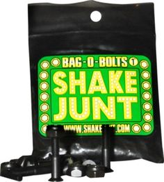 New Products Available from Shake Junt Allen Bag O Bolts Black Skateboard  Hardware Set 1! f8358c7d606