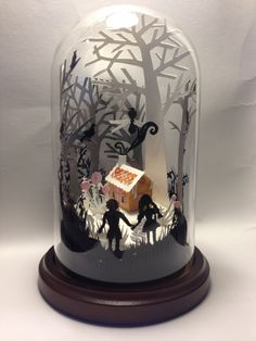Hansel and Gretel Fairytale Glass Dome