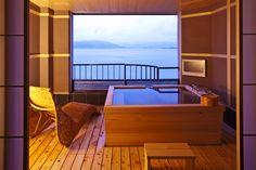 Ocean View Villas, Japanese Bath, Ideal Bathrooms, Shower Chair, Outdoor Baths, Cozy Place, Hot Springs, Interior Design, Architecture