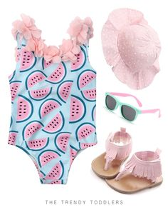 65 Ideas Baby Onesies For Girls Dresses Daughters Little Girl Fashion, Toddler Fashion, Kids Fashion, Fashion Shoes, Unicorn Swimsuit, Kids Clothing Rack, Watermelon Designs, Baby Girl Romper, Cute Baby Clothes
