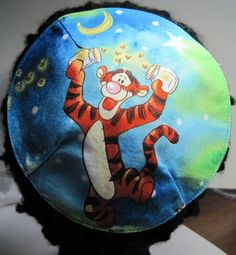 Tigger and Catching Fireflies Kippah by StudioBJC on Etsy, $15.00
