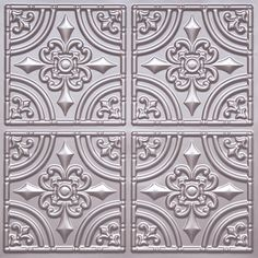 "Plastic Decorative Ceiling Tiles Downtown  Faux Tin Ceiling Tile  24""x24""  #221  Faux Tin"