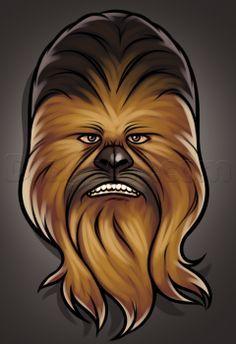 how to draw chewbacca easy Star Wars
