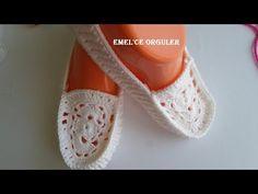 Yeni Bak Bi Timberland Patik Modeli Sende Yap - YouTube Crochet Slipper Pattern, Crochet Shoes, Knit Crochet, Knitting Patterns Free, Crochet Patterns, Knitted Slippers, Sock Shoes, Flip Flop Sandals, Timberland