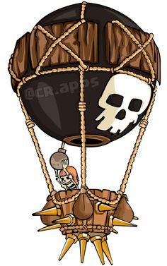 ballon How To Draw: Clash of clans #clashroyale #clashofclans