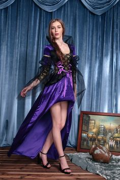 Ensen Europe Delu...  http://omnidragondevelopment.com/products/ensen-europe-deluxe-gothic-violet-and-black-renaissance-queen-noble-witch-costume-fancy-long-dress-halloween-cosplay-costume?utm_campaign=social_autopilot&utm_source=pin&utm_medium=pin