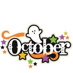 October Title SVG scrapbook cut file cute clipart files for silhouette cricut pazzles free svgs free svg cuts cute cut files