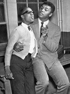Little Stevie Wonder and Muhammed Ali - circa 1963