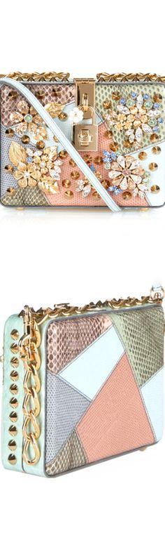 Dolce & Gabbana ~ Dolce Mini Floral embellished Box Bag