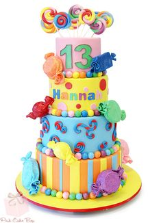 Hannah's Candy Bat Mitzvah Cake by Pink Cake Box