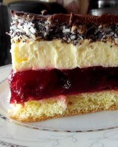 Stuff my ideas: Cherry cake with poppy seeds Baking Recipes, Cookie Recipes, Dessert Recipes, Polish Desserts, Buttery Biscuits, Mini Foods, Homemade Cakes, Mini Cakes, Delicious Desserts