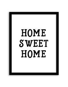 Download and print this free printable Home Sweet Home wall art for your home or office!