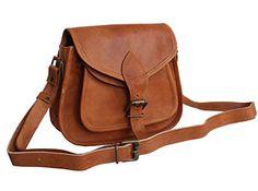 LUST Leather Womens Hippe Leather Purse Crossbody Shoulder Bag Travel Satchel Handbag Ipad Bag 9 x 7 *** Click image for more details.